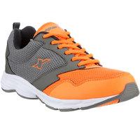 Sparx Men's Grey & Orange Lace Up Sports Shoes