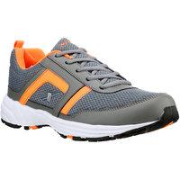 Sparx Men's Grey & Orange Lace Up Sport Shoes