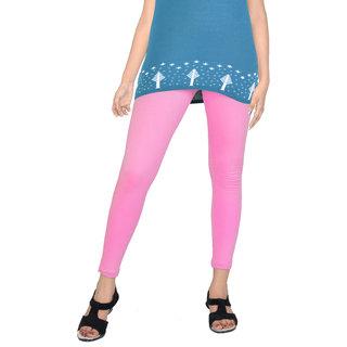 Women's Solid Pink 'Cotton Leggings