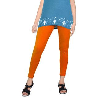 Women's Solid Orange 'Cotton Leggings