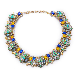 The Bling Stores Multicolor Alloy Oxidised Necklace Sets