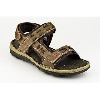 Lee Cooper Men's Brown Buckle Sandals