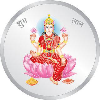 5 Gms Silver 999 Laxmi Ji Color Coin