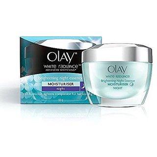 Olay White Radiance Advanced Whitening Fairness Night Essence Skin Cream Moisturizer, 50g