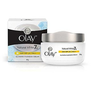 Olay Natural White 7 in One Glowing Fairness Cream Day SPF 24 (50g)