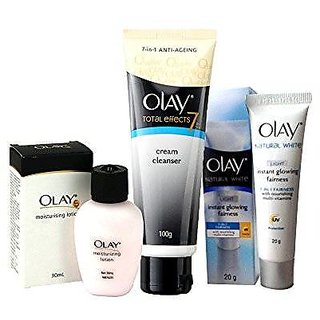 Olay Foaming Cleanser,Lotion and cream combo