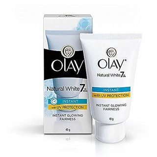 Olay Natural White 7 in 1 Instant Glowing Fairness Cream, 40gm