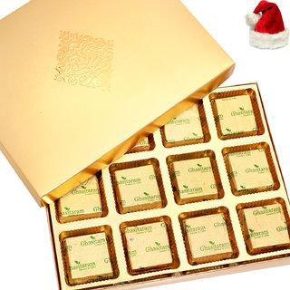 Christmas Gift Chocolates-Golden 12 pcs Roasted Almond Sugarfree  Chocolates Box
