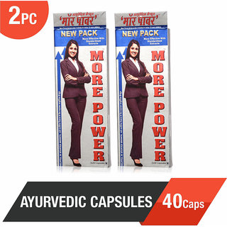 More Power Ayurvedic Capsules 40Caps - Helpful in Height Growth (Pack of 2)