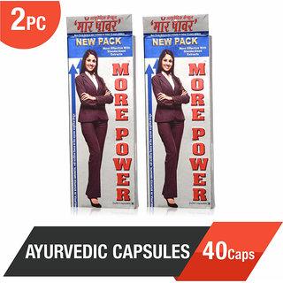 More Power Ayurvedic Capsules 40Caps - Helpful in Height Growth (Pack of 2)