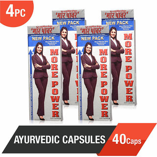 More Power Ayurvedic Capsules 40Caps - Helpful in Height Growth (Pack of 4)
