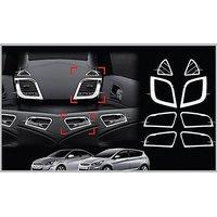 Chrome Interior Moulding Kit For Hyundai New Verna Fluidic.