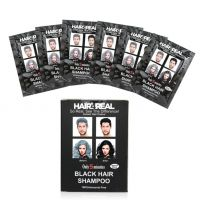 Hair4Real BHair4Realack Hair Shampoo (Set Of 25ml X 6 Sachets) With 6 Sets Of Gloves  1 Apron Free.100 Ammonia Free