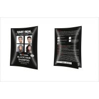 Hair4Real Instant Black Hair Color Shampoo (Set Of 25ml X 4 Sachets) With 4 Sets Of Disposable Gloves Free