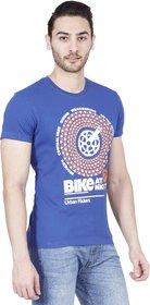 Lee Blue Round Neck Half Sleeve Mens T-Shirt