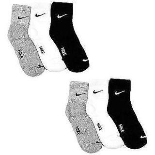 Set of 6 pairs N logo Sports ankle length cotton towel socks