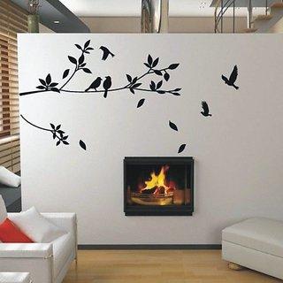 Stupendous Tree Bird Home Decor Bedroom Wall Sticker Room Stickers Vinyl 126 Home Interior And Landscaping Mentranervesignezvosmurscom