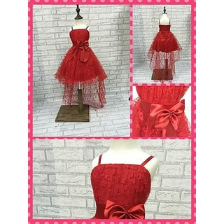 Lovely frock Red with trail