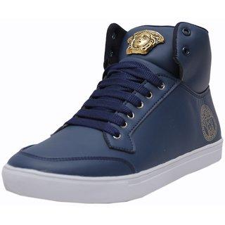 West Code Men Blue Lace-up Casual Shoes