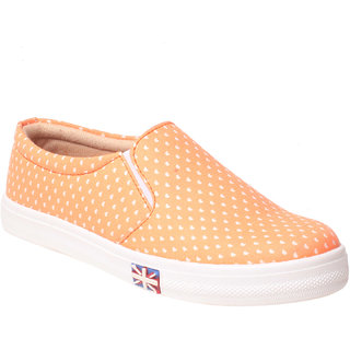 MSC Women Orange Slip on Casual Shoes