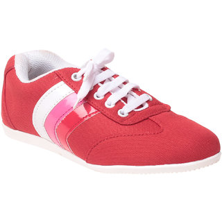 MSC Women Red Slip on Casual Shoes