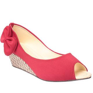 MSC Women's Red Wedges