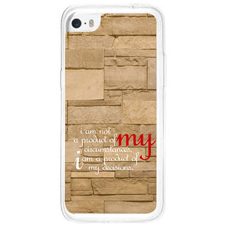 ifasho Kowledge quotes on stone pattern  Back Case Cover for   5C