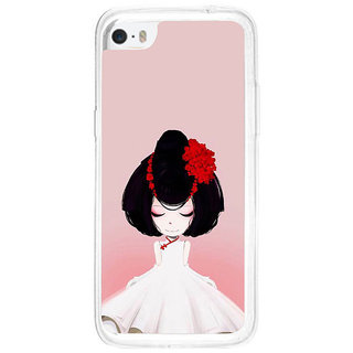 ifasho Girl  with Flower in Hair Back Case Cover for   5C