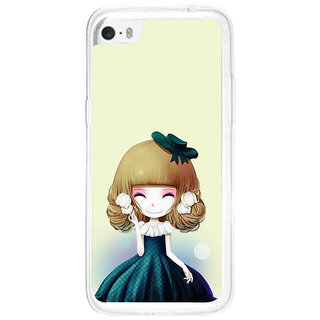 ifasho Winking Girl with green Cap Back Case Cover for   5C