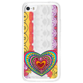 ifasho Modern Art Design Pattern with Heart and design colorful Back Case Cover for   5C