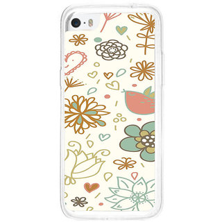 ifasho Animated Pattern colrful design cartoon flower with leaves Back Case Cover for   5C