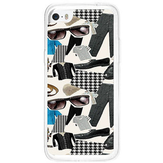 ifasho Modern Art Design Pattern man dress shoes spec belt Back Case Cover for   5C