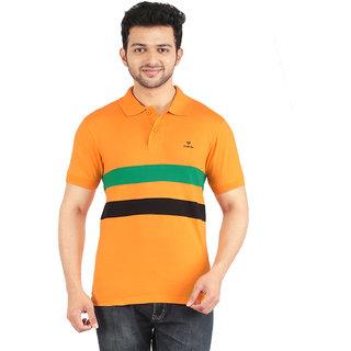 YUKTH Men's Striped Polo T-shirt