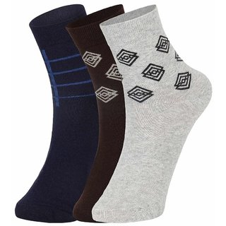 Dukk Men'S Multicoloured Ankle Length Cotton Lycra Socks