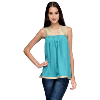 Tunic Nation Women's Solid Poly Crepe Top