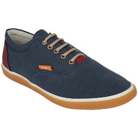 Guava Men Blue Lace-up Casual Shoes