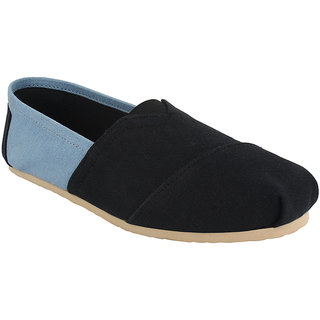 Hirolas Men Black Slip on Casual Shoes