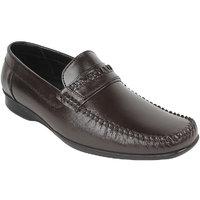 Guava Men Brown Slip On Formal Shoes - 101652488