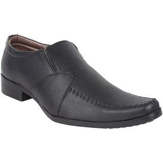 Hirolas Men Black Slip on Formal Shoes