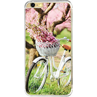 ifasho Cycle in a park with flowers and grass Back Case Cover for   6