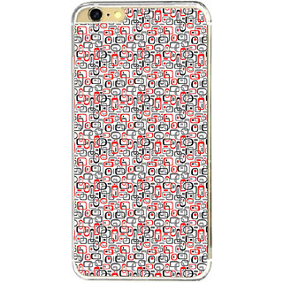 ifasho Modern Theme of colorful Squre inside square and dots Back Case Cover for   6