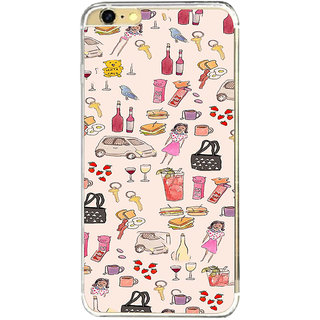 ifasho Modern Art Design Pattern girl shop car food bird Back Case Cover for   6