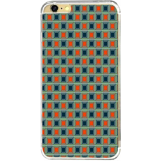 ifasho Colour Full Square Pattern Back Case Cover for   6