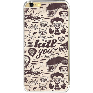 ifasho Animated Pattern horror skeleton and daring Back Case Cover for   6
