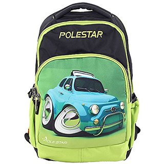 Polestar Electra  Car Printed Green And Black Kids School Backpack Bag
