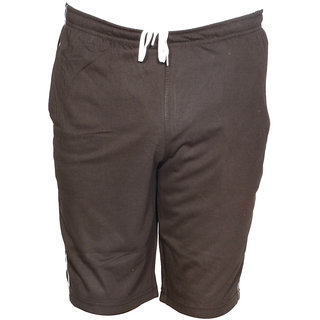 IndiWeaves Mens Regular Fit Casual Shorts _Brown_Size-32