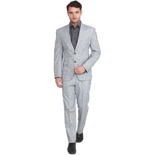 Lee Marc Mens Solid Formal Grey Suits