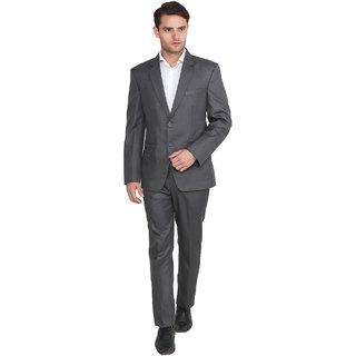 7701cfddb89 Buy Hangup Mens Solid Formal Grey Suits Online - Get 67% Off