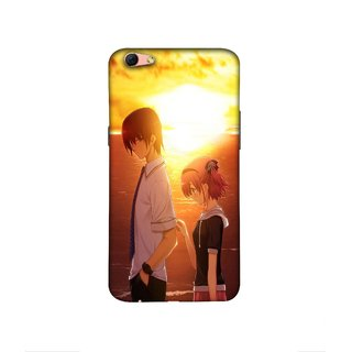 Casotec Girl Boy Sunset Sea Design 3D Printed Hard Back Case Cover for Oppo R9s