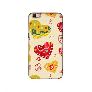 Casotec Hearts Design 3D Printed Hard Back Case Cover for Oppo R9s